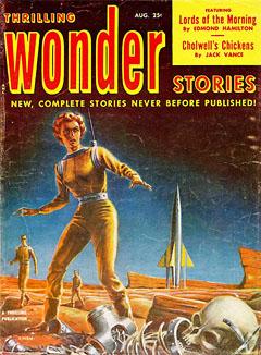 Ed Emshwiller 1950's magazine cover
