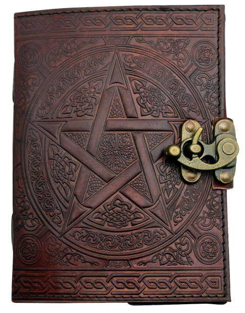 Brown Pentacle Journal from Fantasy Gifts