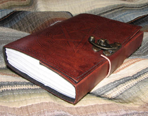 Leather Pentacle Journal from Fantasy Gifts