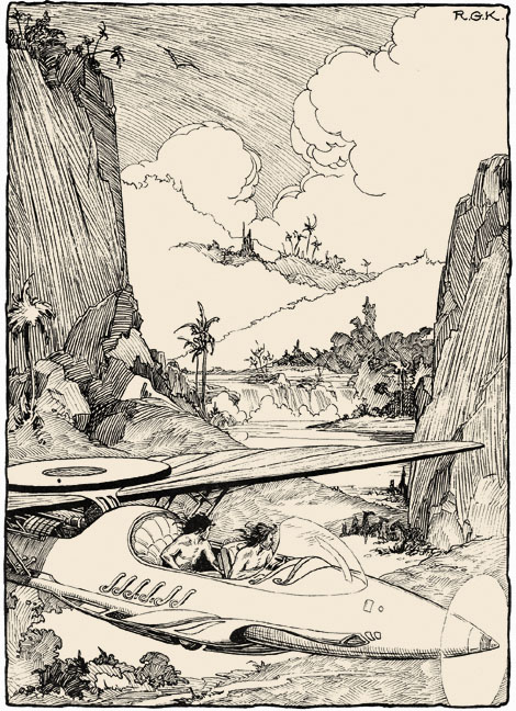 Roy G. Krenkel's illustrations for tales of three planets