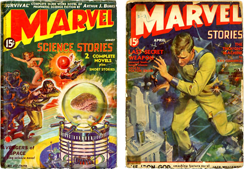 Covers from Marvel Science Stories