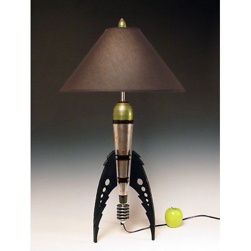Retro Rocket lamp by highdesertdreams