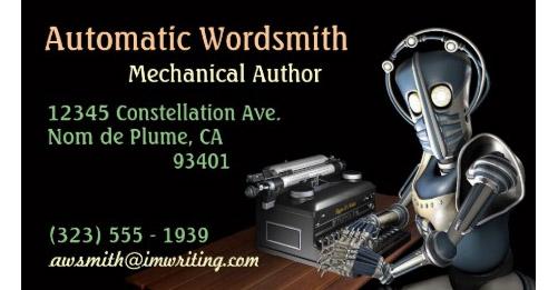 Retropolis Author Business Card