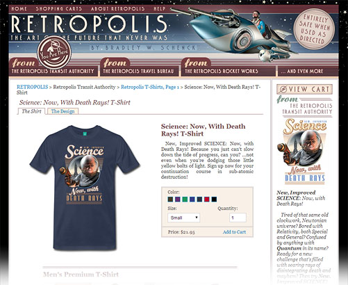Retropolis Transit Authority, Spreadshirt version