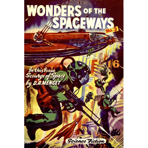 Ron Turner cover for Wonders of the Spaceways