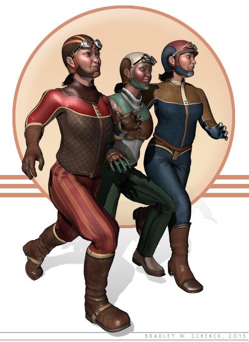 Scrambling ladies of Retropolis