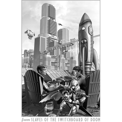 The city of the retro future, from Slaves of the Switchboard of Doom