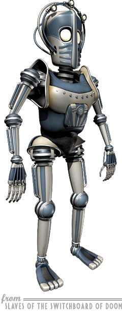 Retro Robot character from 'Slaves of the Switchboard of Doom'