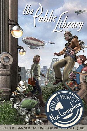 the Public Library - a Retropolitan Promotional Poster